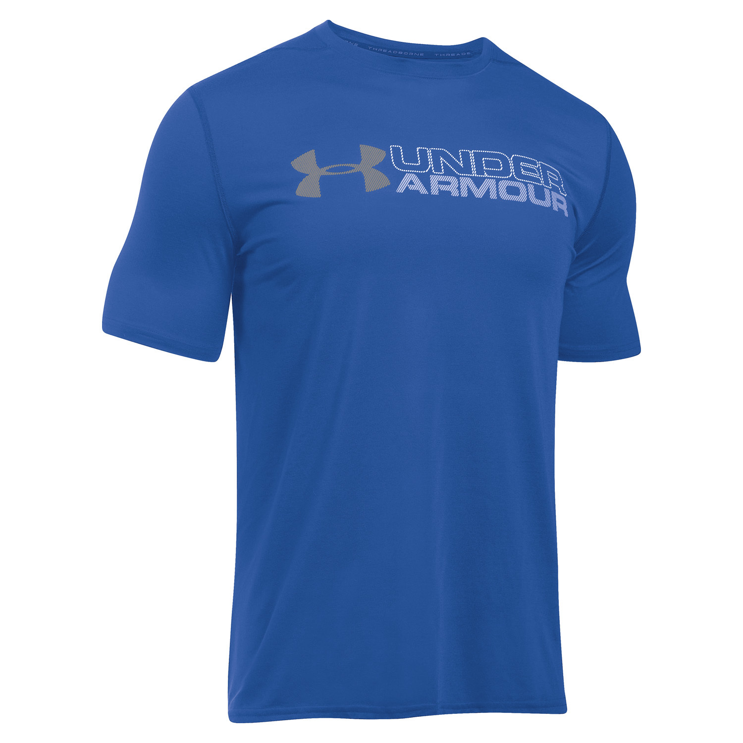 Under armour wordmark threadborne v tements homme t for Under armour shirts canada